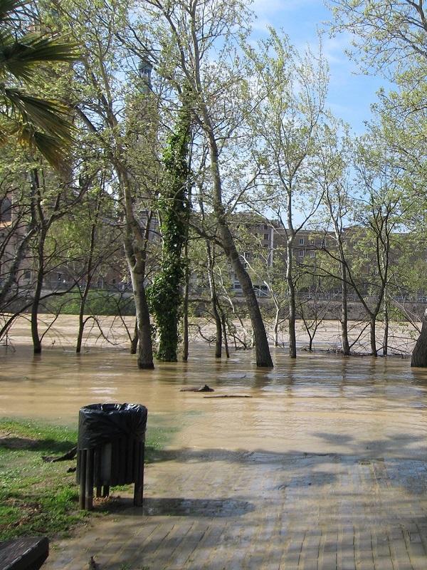 Crecida del río Ebro