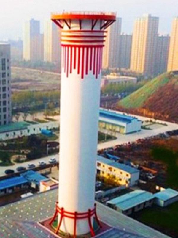 El purificador gigante chino reduce un 15% la polución por partículas
