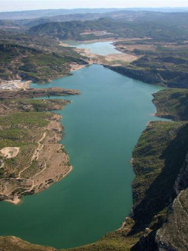 Una nueva presa ampliará la capacidad del embalse de Santolea (Teruel)
