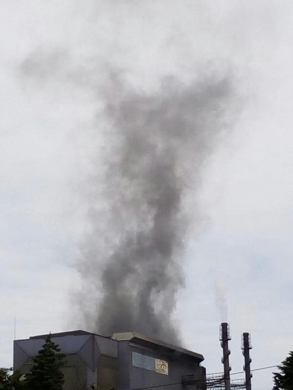 Asturias.  Ayer se disparo la contaminación de partículas en Salinas un 750%