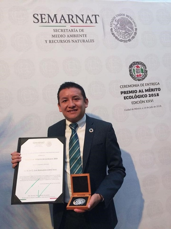Michoacano gana Premio al Mérito Ecológico 2018