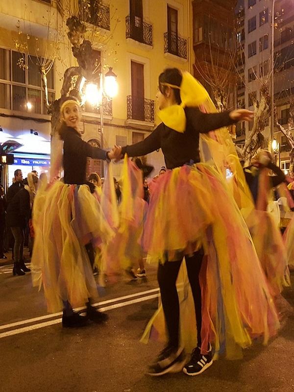 La comparsa 'El Siete Infantes y las Estaciones al Cambio Climático', ganadora del desfile de Carnaval 2018