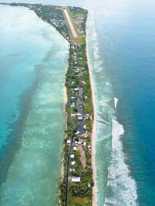 La Isla de Tuvalu no se hunde en el mar por el cambio climático