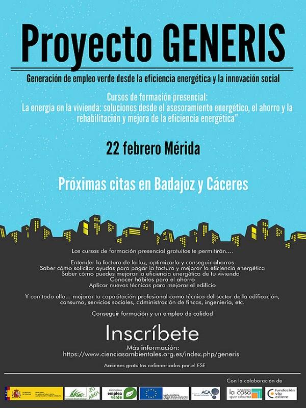 Asociación de Ciencias Ambientales. Formación Presencial Gratuita - 22 Febrero en Mérida