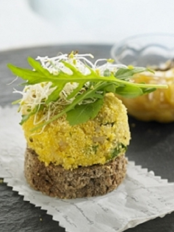Receta Ecológica recomendada por ECOticias.com: Burger de arroz con legumbres con mango