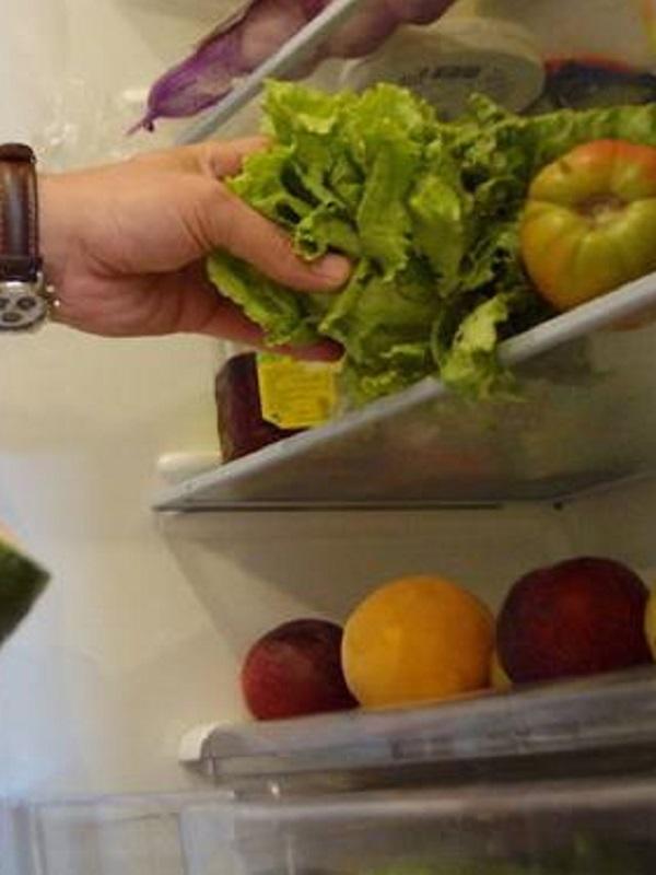 El fondo de armario de los vegetales y la fruta