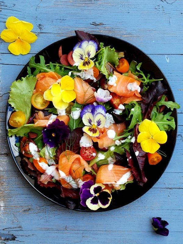 Ojito con las flores en tu dieta