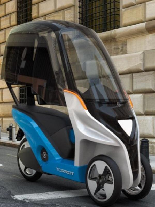 Un vehículo eléctrico de tres ruedas para el reparto urbano