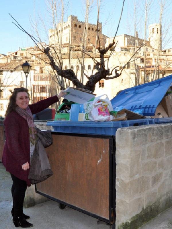 Recogida selectiva de residuos puerta a puerta en la Comarca del Matarraña