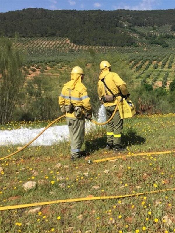 La Junta ejecuta un simulacro de incendio forestal en el sendero del Río Majaceite y El Bosque en Cádiz