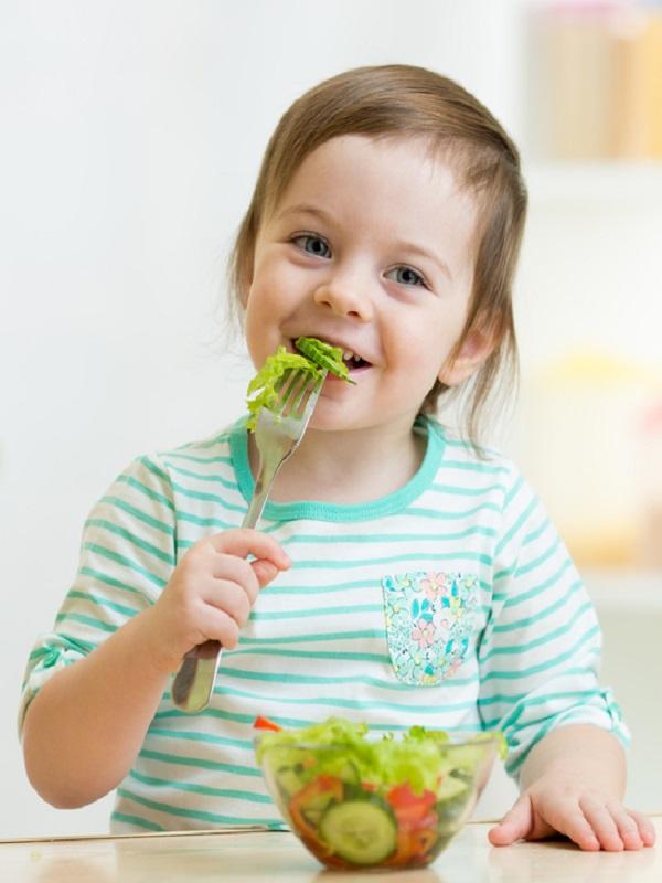 La cara A y B de los niños vegetarianos