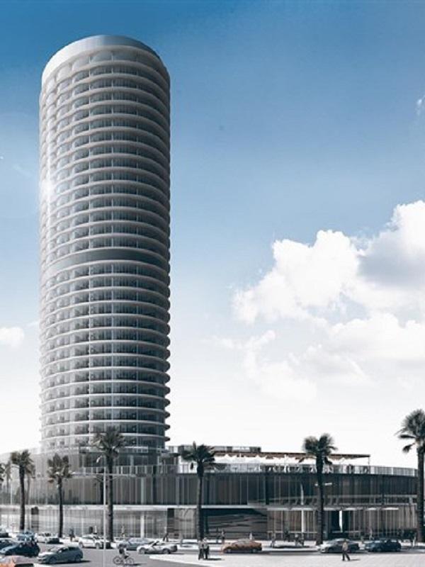 Agria polémica por la evaluación de impacto ambiental del futuro hotel del puerto de Málaga