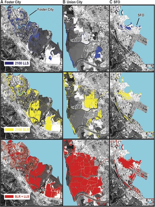 El terreno se hunde en San Francisco y el mar amenaza a Silicon Valley
