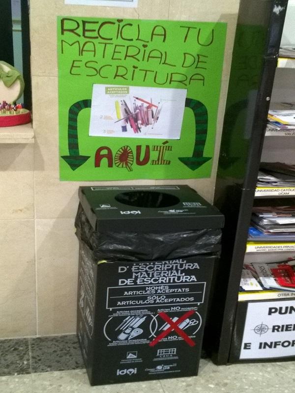 Málaga implementará contenedores de recogida de bolígrafos y rotuladores