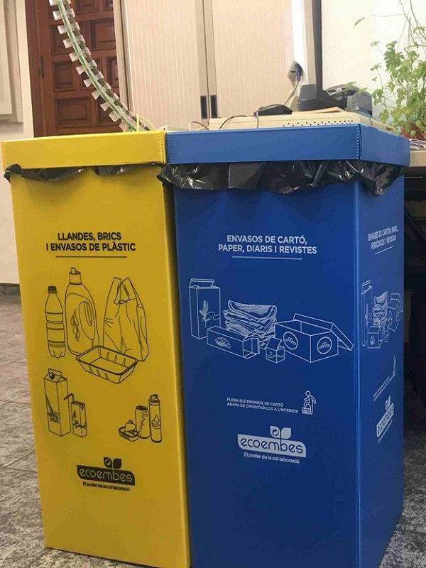 Málaga se aplica en la recogida selectiva de papel y cartón