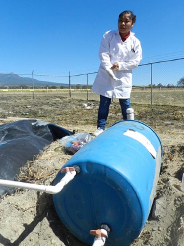 Desechos orgánicos del hogar para producir biogás