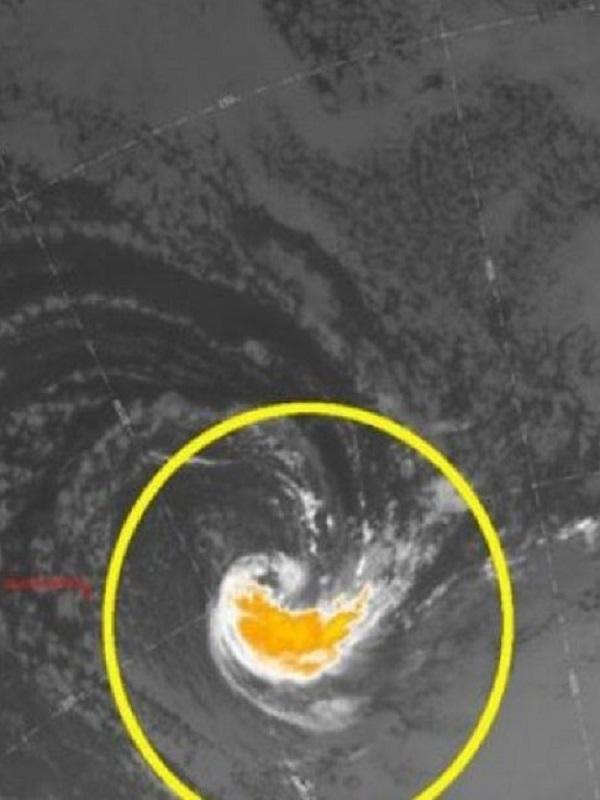Un ciclón extremadamente raro apareció ante la costa de Chile