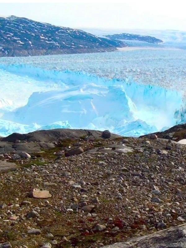 Una franja de hielo muy singular en Groenlandia