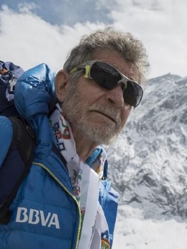 Carlos Soria desde el Campo III del Dahulagiri, al final no pudo ser