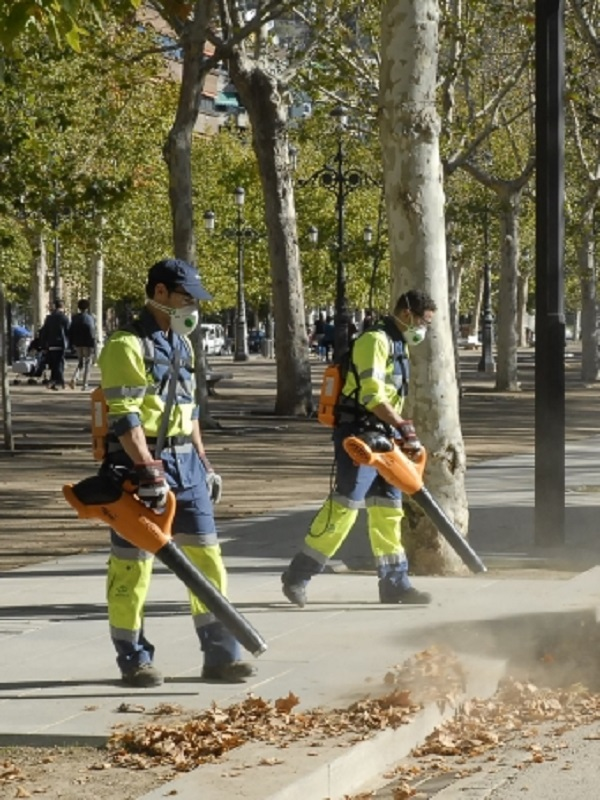 El Ayuntamiento de Granada activa la campaña de recogida de hojas con maquinaria menos ruidosa