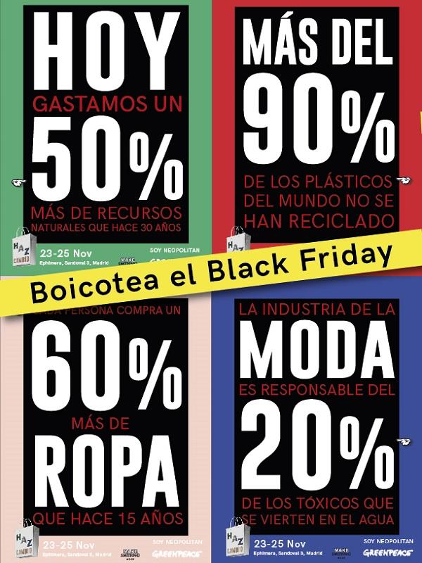 Black Friday: Greenpeace organiza en más de 30 países, un mega-evento de consumo alternativo