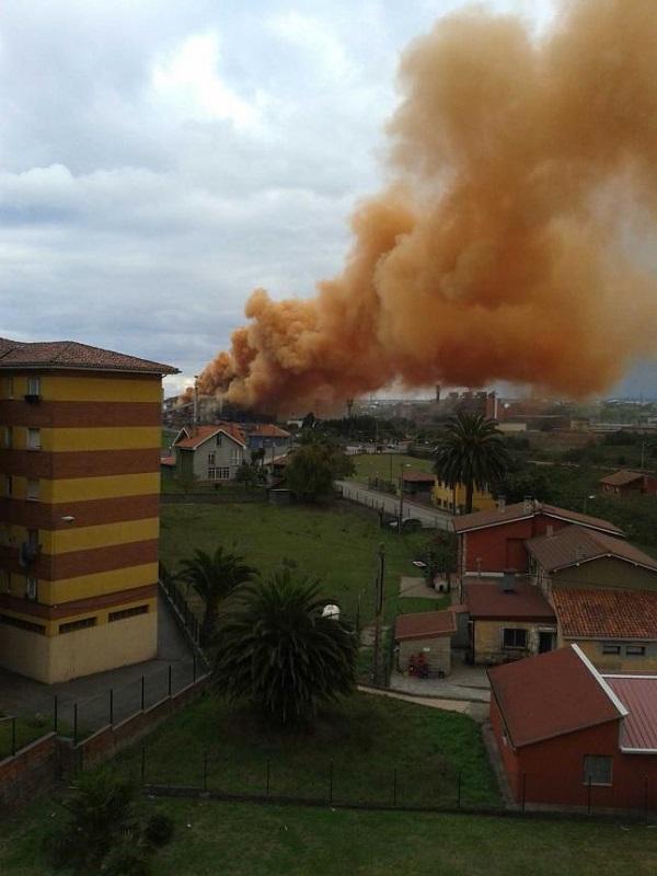 Asturias. Este viernes fue horrible la contaminación en la zona Este de Gijón