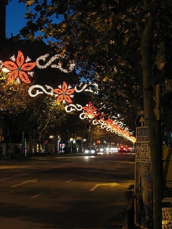 El alumbrado navideño acelera el cambio climático en Andalucía
