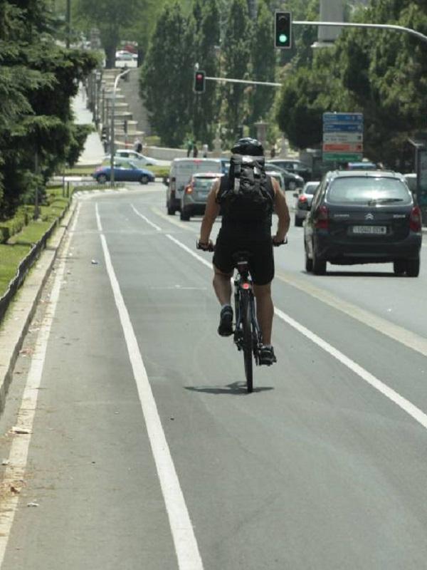 Madrid. La Cuña Verde de O'Donnell se terminará tres circuitos de bicicletas