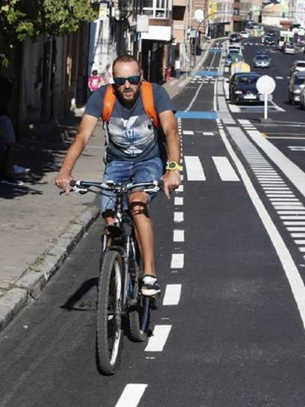 León, apertura del carril bici de Párroco Pablo Díez