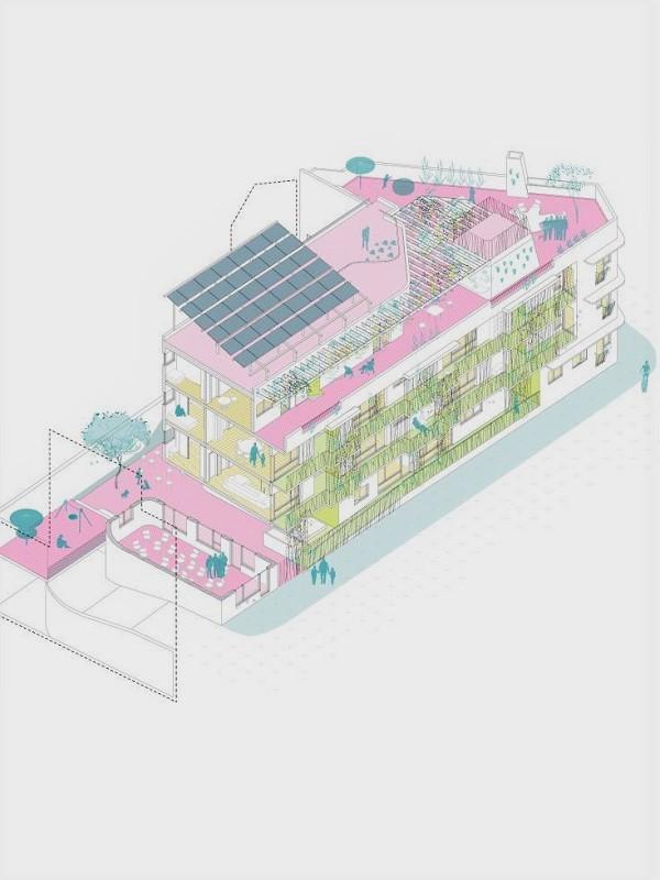 Arrancan las obras del primer edificio ecológico en 'derecho de uso' de Madrid, que estará en Usera