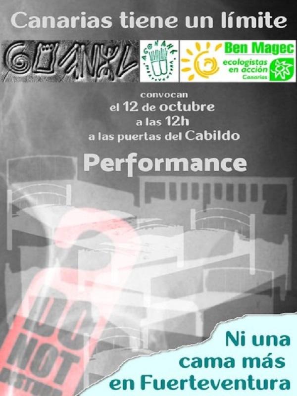 Performance y Charla sobre Turismo y Ordenación del Territorio en Fuerteventura