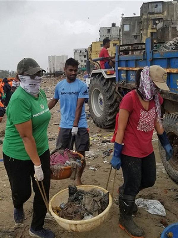 Eliminan 5 millones de kilos de basura de una playa de la India y las tortugas regresan a anidar después de 20 años