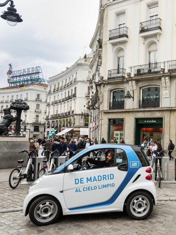 Los usuarios de car2go en Madrid reducen más de 1.600 toneladas de CO2 en 2017