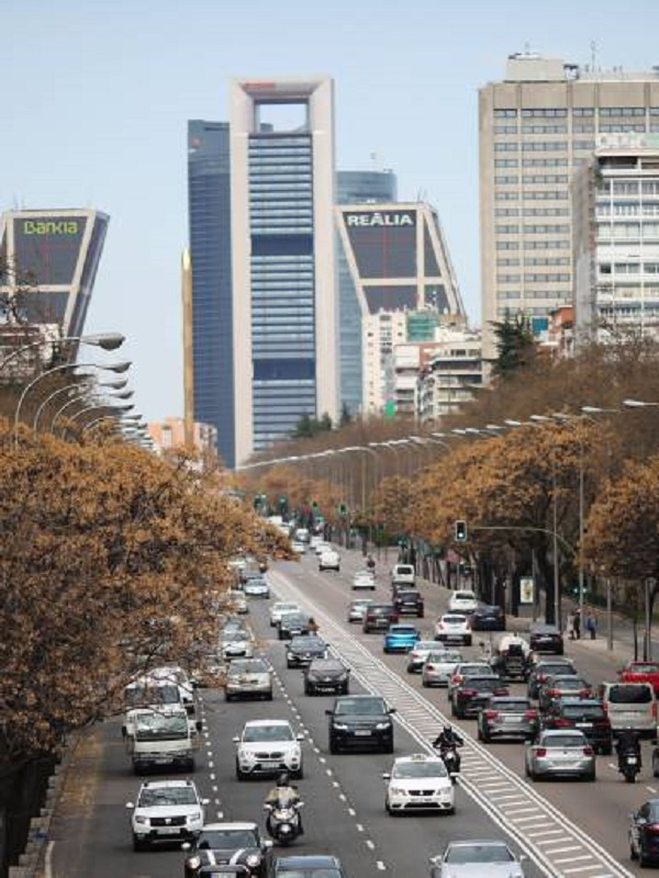 El tráfico privado de Madrid se ha reducido sólo un 2% en los últimos tres años