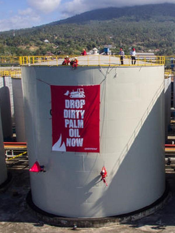 Greenpeace pone en su punto de mira en una refinería de aceite de palma en Indonesia