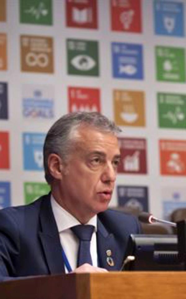 Urkullu defiende la iniciativa de los 'Bonos Sostenibles'