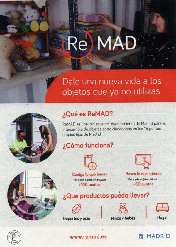 ReMAD, el nuevo servicio de intercambio de objetos reutilizables en Madrid