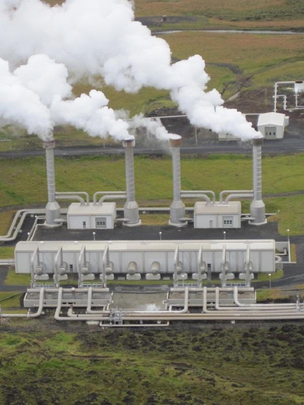 Planta geotérmica en Bolivia.