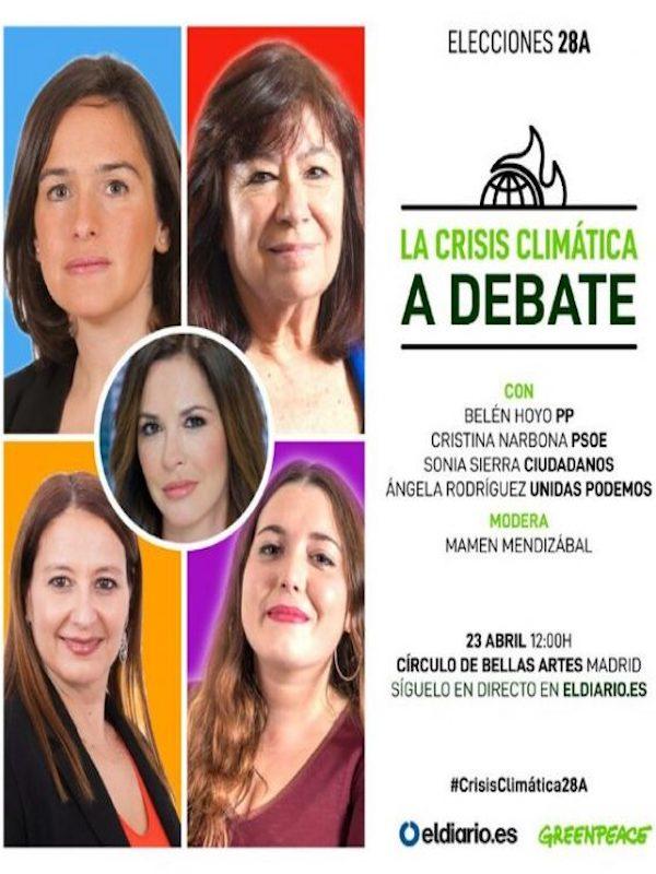 Greenpeace y eldiario.es organizan un debate de candidatas sobre cuestiones medioambientales