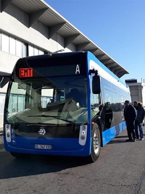 EMT prueba el nuevo autobús eléctrico Aptis de Alstom