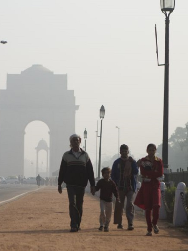 La contaminación en Nueva Delhi alcanza niveles de