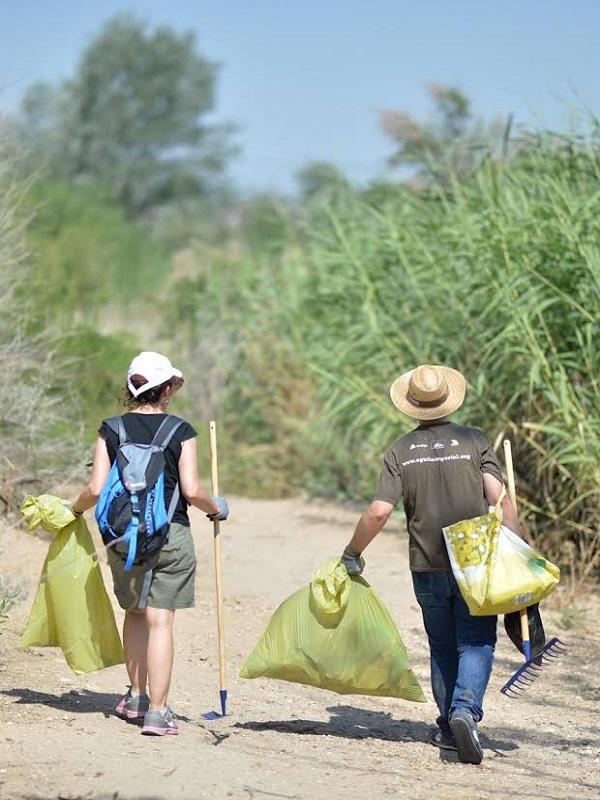 Brigadas de limpieza retiran 121.937 kilos de plásticos y residuos de los espacios naturales protegidos de la Región de Murcia