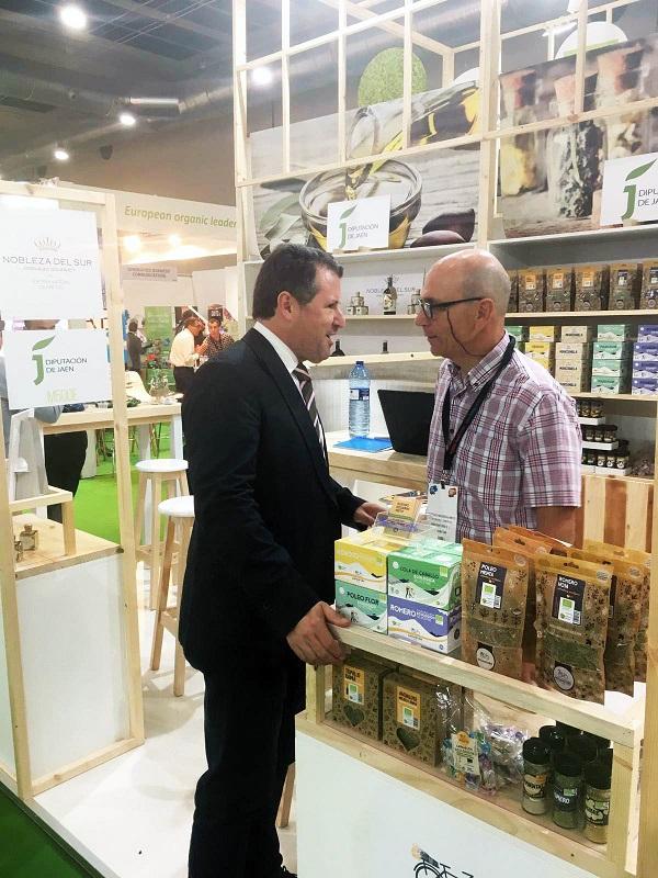 El aceite de oliva de producción ecológica centra la presencia de Jaén en el primer Organic Food Iberia