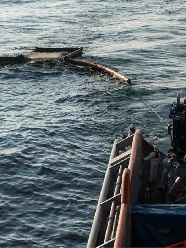 Vertido del buque Grande America en aguas del golfo de Bizkaia