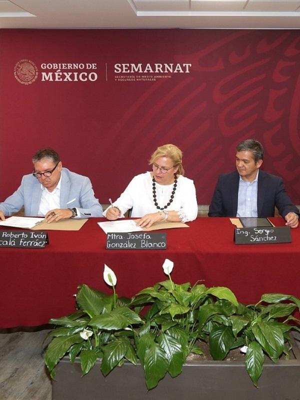 Firman Semarnat y ANAAE convenio para trabajar en la agenda ambiental de México