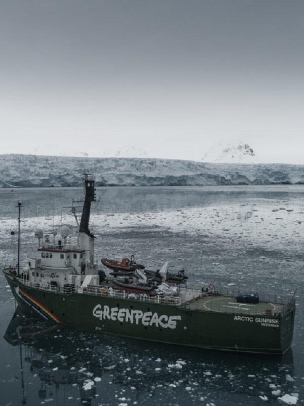 El Esperanza y el Arctic Sunrise, se encuentran en una expedición en el Ártico