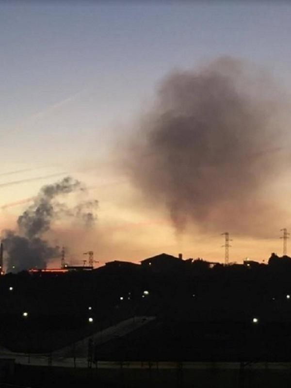Otra noche horrorosa de contaminación en Gijón