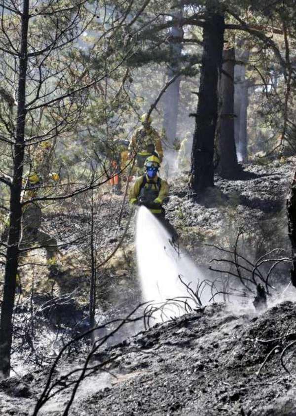 Incendio intencionado en Miraflores