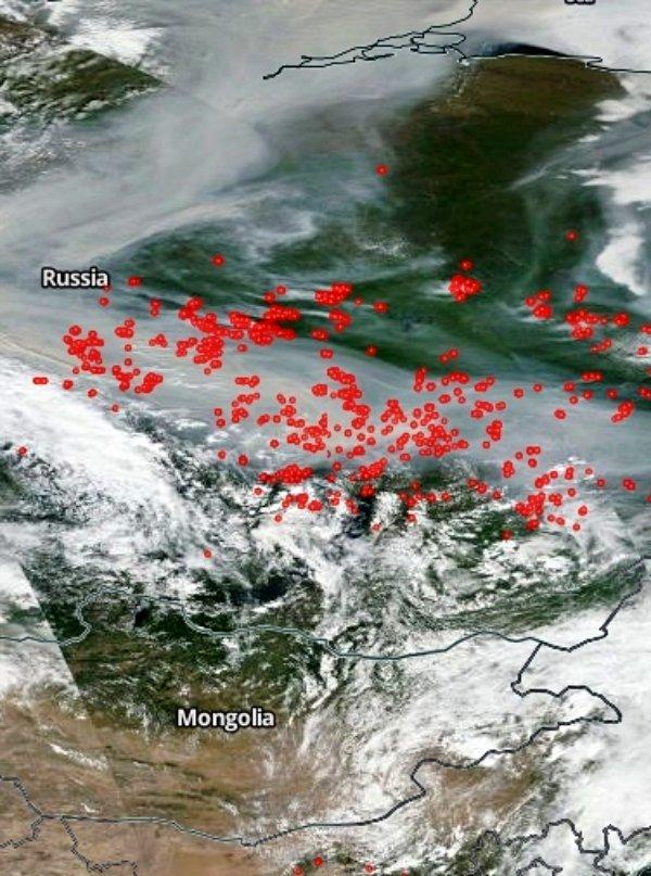 Europa no puede respirar por los inmensos incendios en Siberia