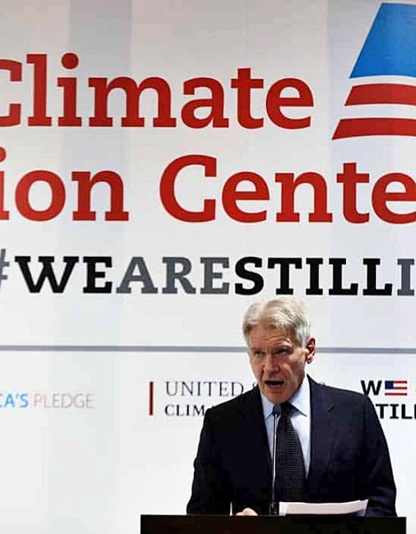 El actor Harrison Ford se enfrenta las políticas negacionistas de Donald Trump